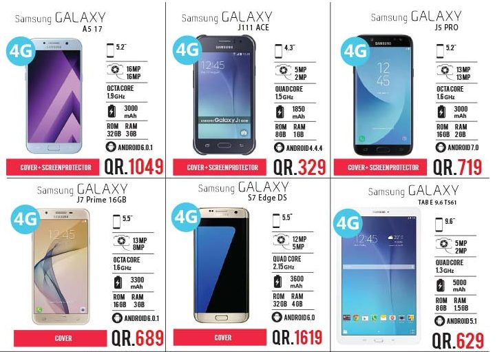 samsung galaxy and huawei mobile phones