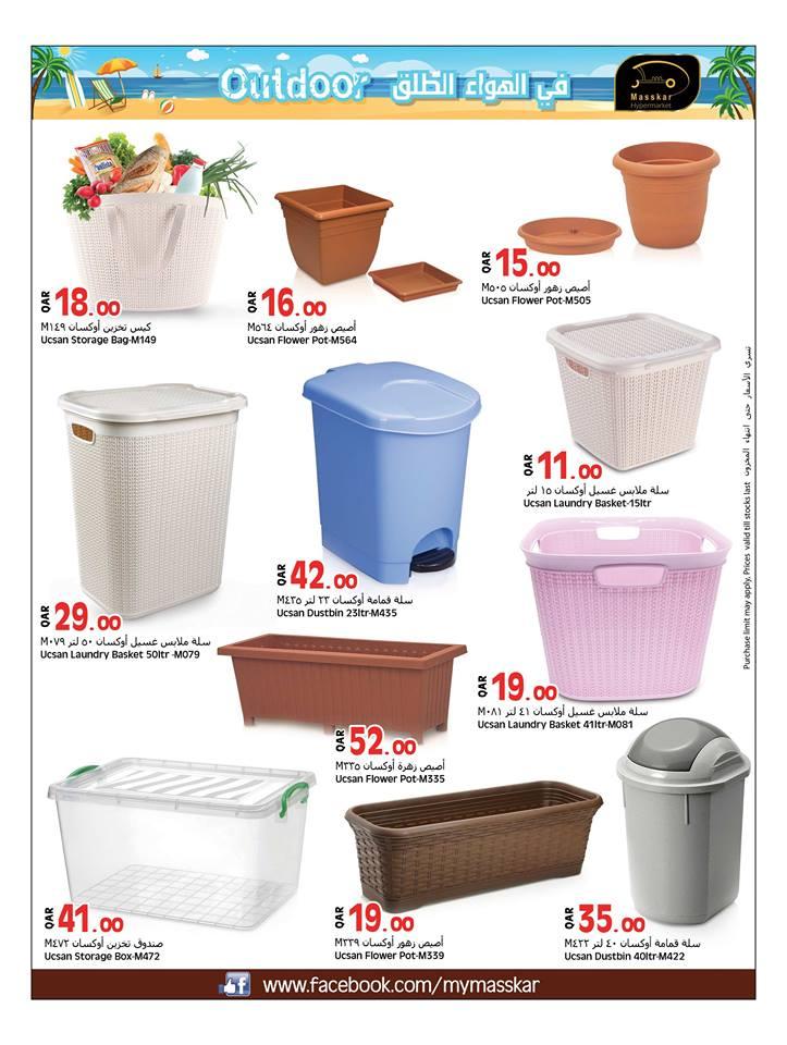 trash bins and organic plants
