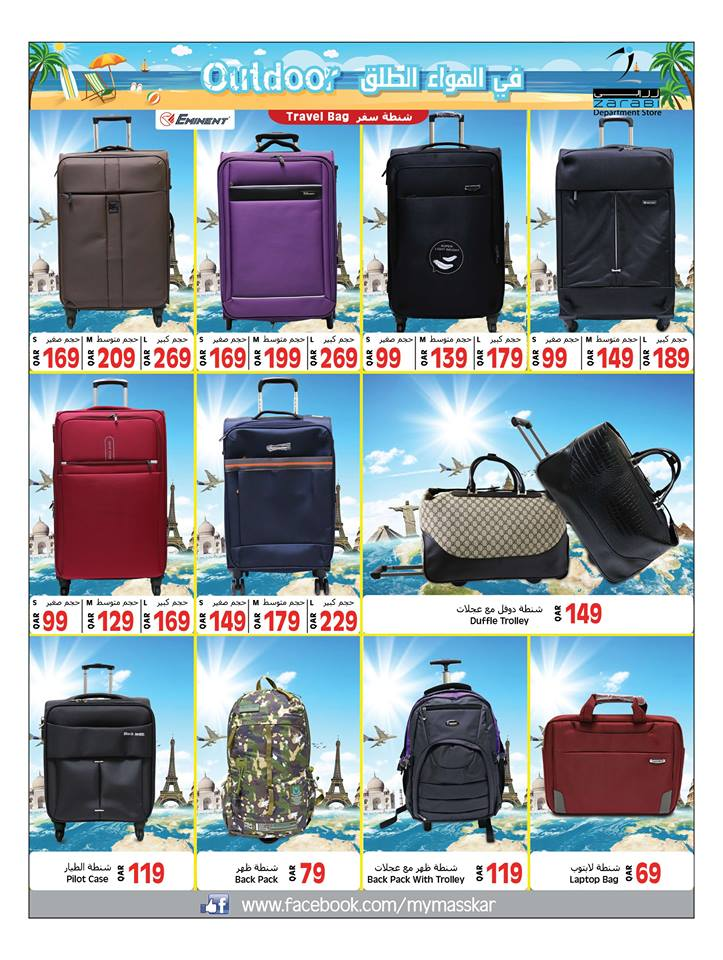travel bags and back packs
