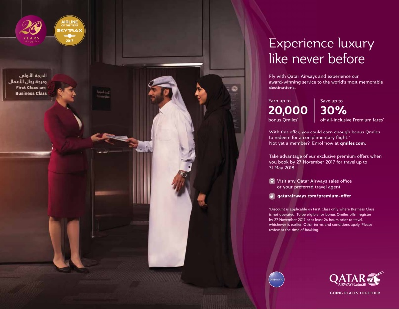 qatar airways filght sale