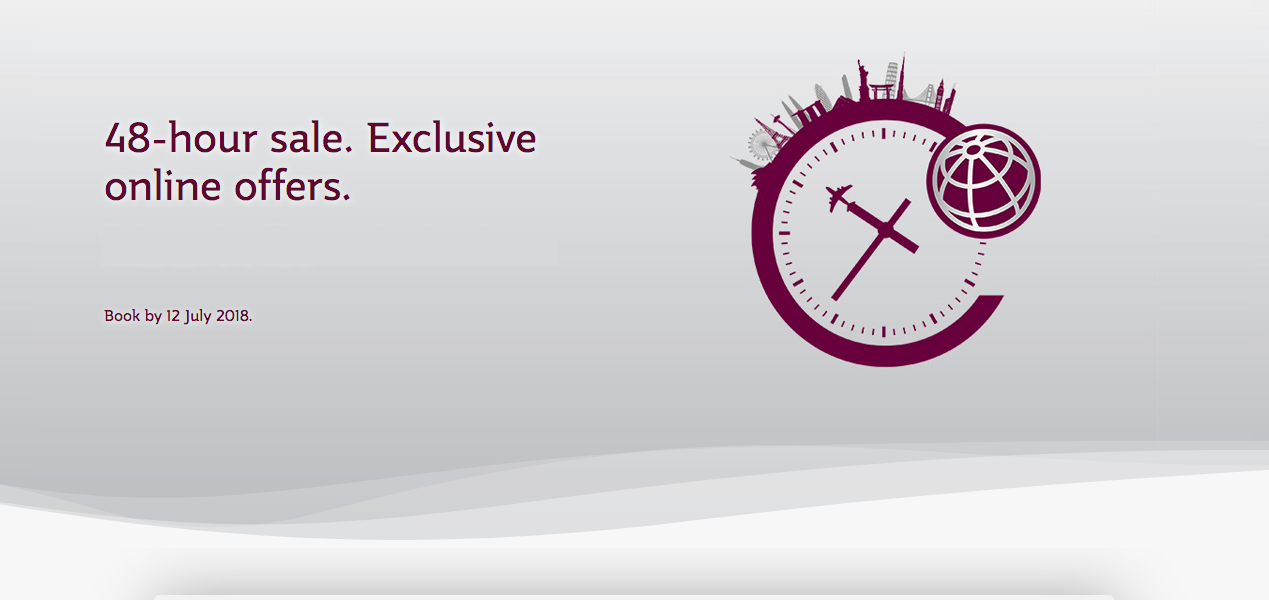 Qatar Airways 48 hour sale