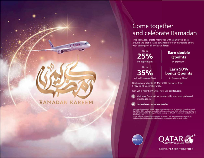 qatar airways ramadan
