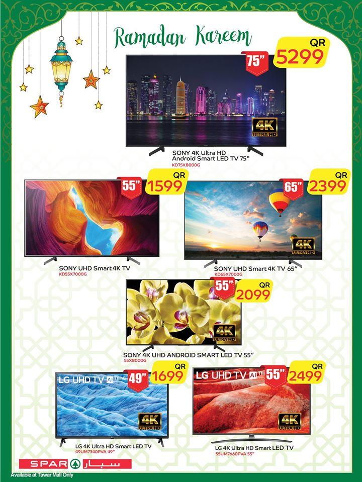led tv qatar price