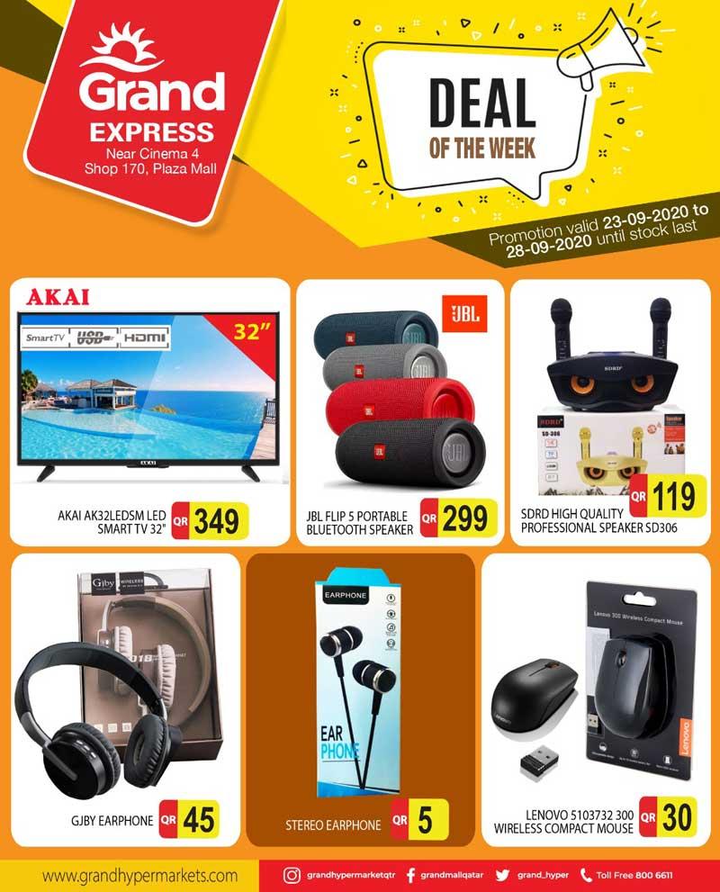 akai smart tv, jbl flip 5 portable speakers, ear phone, lenovo wireless compact mouse