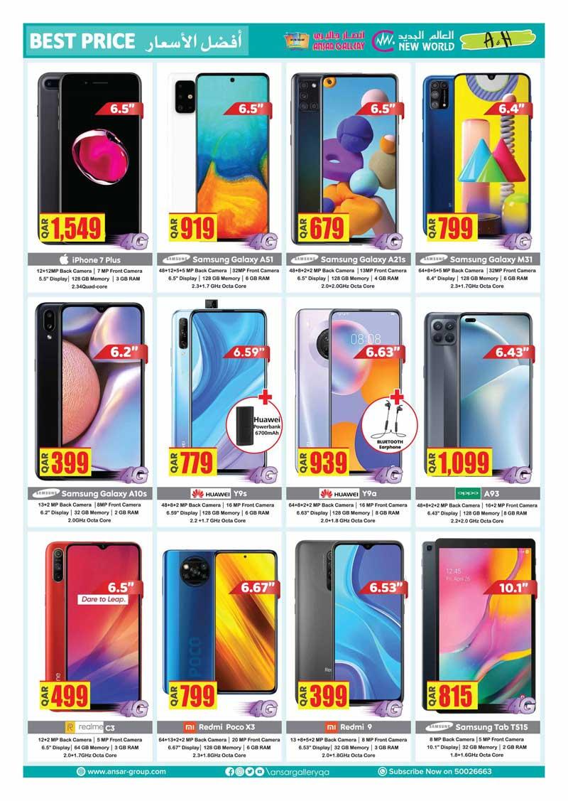 iphone 7, samsung galaxy a31