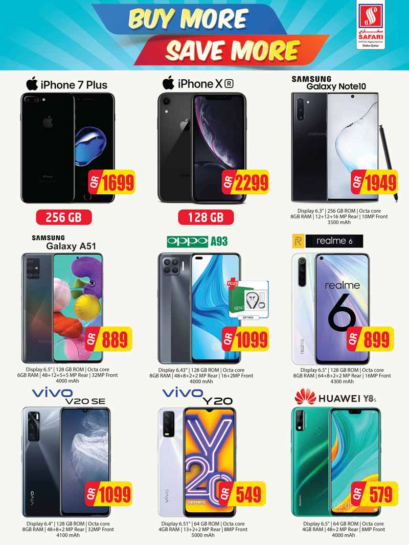 samsung galaxy a51, iphone xr, oppo a93, huawei y8